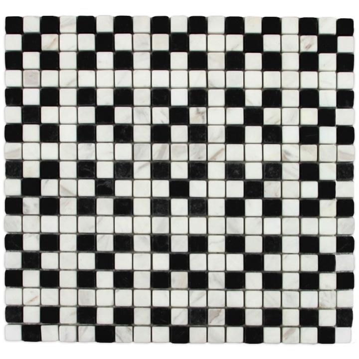 Volakas, Macedonian Black, THASSOS SNOW WHITE mozaika kamienna