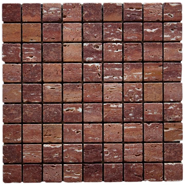TRAVERTINO IRAN RED mozaika kamienna