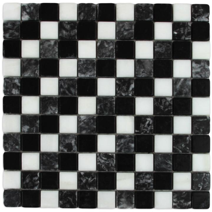 Thassos Snow White, Macedonian Black, Levadia Black mozaika kamienna