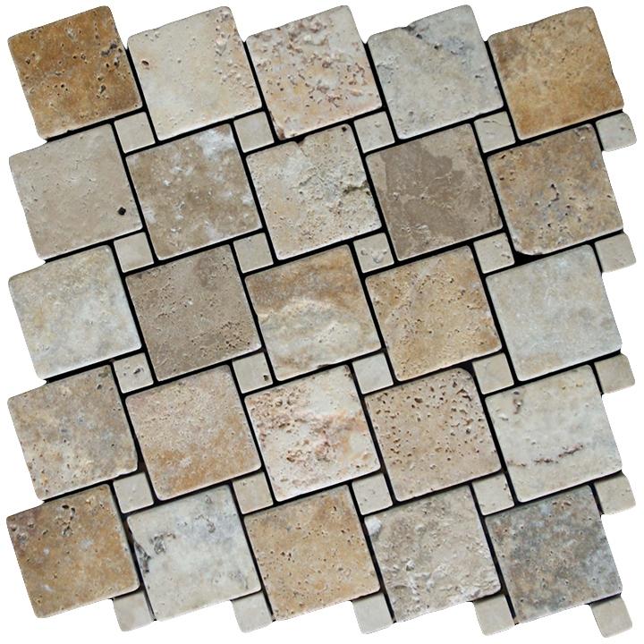 Travertino Scabas, Travertino Navona  mozaika kamienna