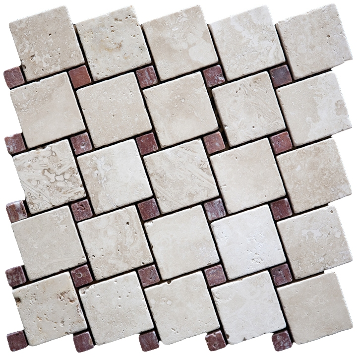 Travertino Navona , Ritsona Red mozaika kamienna
