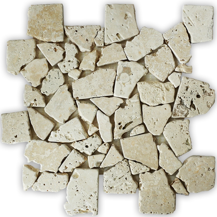 Travertino Beż mozaika kamienna