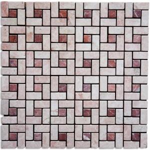 DESERT PINK, RITSONA RED mozaika kamienna