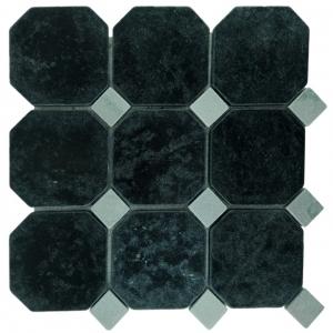 Macedonian Black, Cipollino Green mozaika kamienna