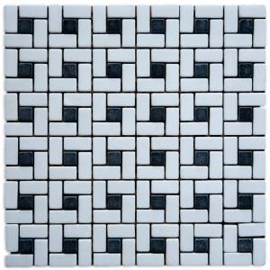 Thassos Snow White, Macedonian Black mozaika kamienna