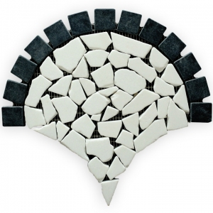 Thassos S. White, Macedonian Black  mozaika kamienna