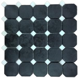 Macedonian Black, Ariston White mozaika kamienna