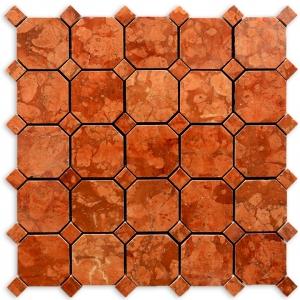 Rosso Asiago mozaika kamienna