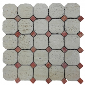 Travertino Navona, Travertino Iran Red mozaika kamienna